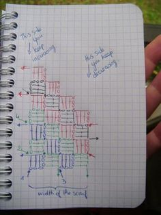 diagonal crochet-decrease increase for rectangular projects