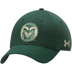 322ef990d63 Under Armour Colorado State Rams Green Sideline Garment Washed Twill  Performance Adjustable Hat