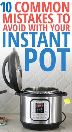10 Common Mistakes to Avoid with Your Instant Pot 10 Common Mistakes to Avoid with Your Instant Pot – Just bought an Instant Pot? Here are 10 common mistakes you should avoid when you're cooking with an Instant Pot! Instant Cooker, Instant Pot Pressure Cooker, Pressure Cooking, Pressure Cooker Meals, Best Pressure Cooker Recipes, Using A Pressure Cooker, Best Instant Pot Recipe, Instant Pot Dinner Recipes, Instant Pot Ip Duo