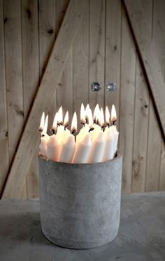 candles in a bucket