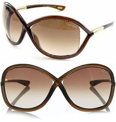 f519677f0966d Tom Ford Sunglasses (Womens Pre-owned Whitney Brown Sun Glasses) Tom Ford  Whitney