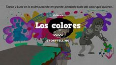 Comic Los colores. Spanish colors video comic