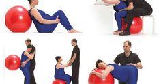 Nous vous présentons 5 positions parmi les 29 à découvrir dans le guide illustré Méthode Ballon Forme couple - Guide sur l'utilisation du ballon de naissance pendant l'accouchement.