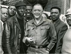General George Gelston and community volunteers who offered to help quell the disorder in Baltimore, April 10, 1968. The immediate cause of the rioting was the assassination of Dr. Martin Luther King, Jr. on April 4.  Source: Hearst Corporation