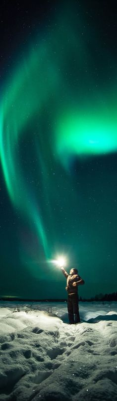 Under the beautyful Northern lights / B.