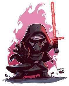 """I might be a little excited for the Force Awakens:) Chibi Kylo and other prints at my store. Link is in my profile. #starwarsday #forceawakens #starwars…"""