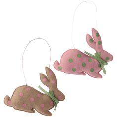 """15"""" Hanging Burlap Rabbit - RAZ Imports"""