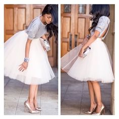 """• White Tulle Skirt • Coming Soon. Stunning white tulle skirt. Perfect for proms, bridal showers, photoshoots or a day out. Features 4 layers of tulle. 25"""" length.    Measurements  S: Waist- 25"""" (size 0-2) M: Waist- 27.5"""" (size 2-4) L: Waist- 29"""" (size 4-6) XL: Waist- 30.5"""" (size 6-8)  ✨""""Buy Now"""" or """"Add to Bundle"""" to purchase✨ Jennifer's Chic Boutique Skirts Midi"""