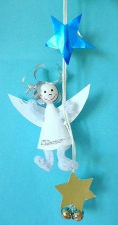 Engel aus Pfeifenputzer - Weihnachten-basteln - Meine Enkel und ich - Made with schwedesign.de