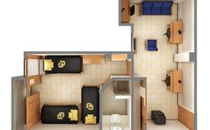 Here is another example of a Triple bed style suite in the Stearns East and West Halls. #CUBoulder #BoulderBound