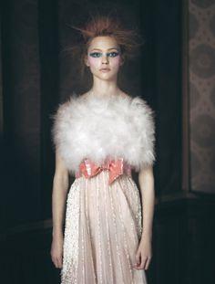 Sasha Pivovarova in Chanel photographed by Paolo Roversi