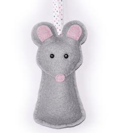 Felt mouse ornie
