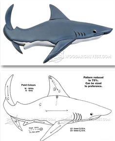 Shark - Intarsia Projects, Tips and Techniques | WoodArchivist.com