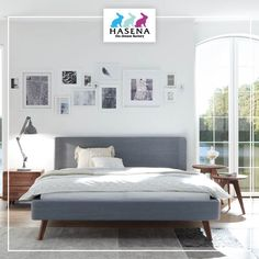Hasena Dream-Line Bett Sole mit Kopfteil Obag und Fusselement Masi Line, Bedroom, Furniture, Home Decor, Simple Lines, Decoration Home, Fishing Line, Room Decor, Bed Room