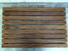 Teak Bath Mat - design borrows from http://themerrythought.com/diy/diy-cedar-bath-mat/