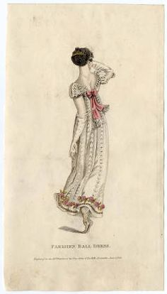 La Belle Assemblee, June 1811, Parisian Ball Dress