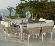 Brafta Large Square Dining Set - Skyline Design
