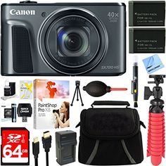 CANON AUTHORIZED DEALER – Includes Full CANON USA WARRANTY Canon PowerShot SX720 HS 20.3MP 40x Optical Zoom HD 1080p CMOS Digital Camera (Black) INCLUDED IN THE CAMERA BOX: Canon PowerShot SX720 HS Digital Camera