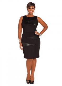 Ashley Stewart: Faux Leather Scuba Dress
