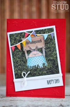by Stampin Stud - Cards and Paper Crafts at Splitcoaststampers Little Critter, Copics, Kids Cards, Greeting Cards Handmade, Stampin Up Cards, Birthday Cards, Projects To Try, Card Making, Paper Crafts