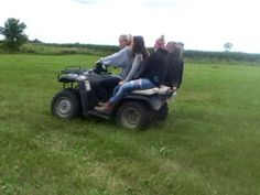 Best friends four wheelers fun country