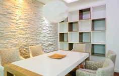 thin stone veneer classic white, simple, contemporary, classy