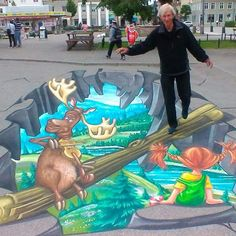 3D art by Remko van Schaik in Vänersborg, Sweden. For a while I was a part of the painting.