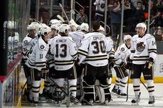 ba2801f2b1c 02.07.15 - Hershey Bears post game celebration after defeating the WBS  Penguins 4-