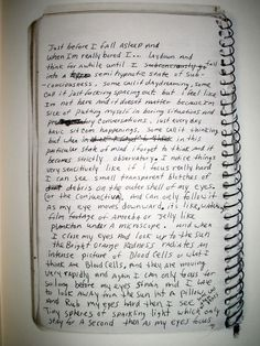 a page from the Kurt Cobain journals