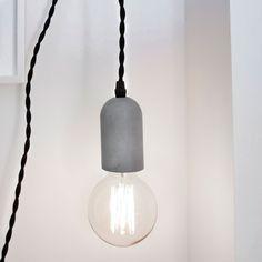 Kikkerland Beton fitting voor lamp
