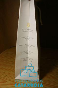 Bolsas de papel de lujo con impresión.