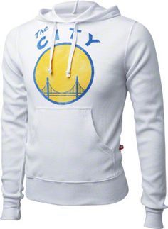 Golden State Warriors Women's White Logo Hooded Sweatshirt
