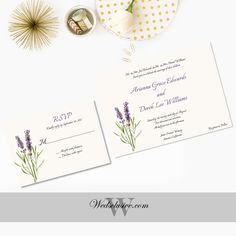 Lavender Wedding Invitations Elegant Wedding by Wedsclusive