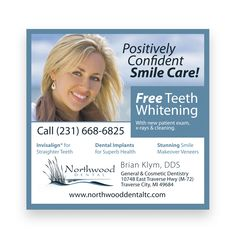 Northwood Cosmetic Dental Group portfolio at The Peripheral Vision. Smile Care, Dental Group, Dental Design, Dental Cosmetics, Dental Implants, Ad Design, Print Ads, Teeth Whitening, Dentistry