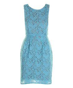 Sky Blue Lace Claudia Dress