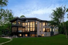 Step inside this modern Minnesota lake house with breathtaking views