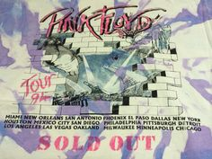 PINK FLOYD Tshirt 1994 Sold Out Tour/ Original by sweetVTGtshirt, $55.00