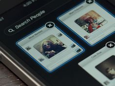 mobile chat select UI