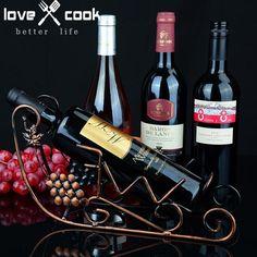 Creative Single Bottle Holder Iron Art Wine Bottle Rack Holder Bar Wine Bottle Storage Shelf Barware Set Home Decorations