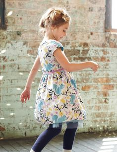 Vintage Print Party Dress. Be like the squirrel, girl! #boden #magicalmenagerie
