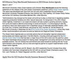 UCI Director Tony MacDonald Statement on JOCI Ocean Action Agenda