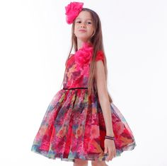 ROCHIE FETE ORGANZA&FLOWERS Organza Flowers, Girls Dresses, Summer Dresses, Special Occasion, Fashion, Dresses Of Girls, Moda, Summer Sundresses, Fashion Styles