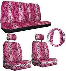 High Back Front Set FH Group FB115RED102 Red Stylish Polka Dot Car Seat Cover Set of 2