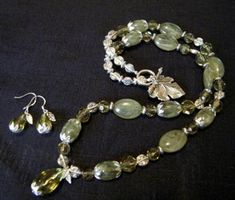 Asian Pear Inspired Jewelry Set