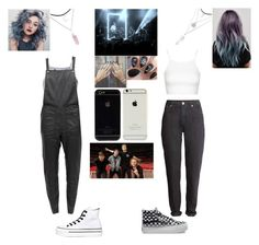 """The 1975"" by cc-quinn ❤ liked on Polyvore featuring Glamorous, Designers Remix, Converse, Topshop, Vans, women's clothing, women, female, woman and misses"