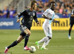 Wednesday: Beckham was flown to America to play for the Major League Soccer All Stars against Chelsea