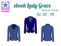 "ebook "" Lady Grace "" Sweatblazer 32 - 50 von mialuna auf DaWanda.com"