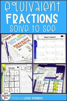 Find fun and engaging math games, math activities, and problem solving for your kindergarten, first grade, and grade students. Math Resources, Math Activities, Math Games, Math Division, Long Division, Fractions Worksheets, Multiplication, Equivalent Fractions, Math Graphic Organizers