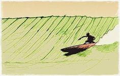 Maus illustrations #surf #wave #art
