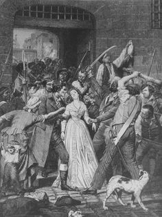 """Massacre of Marie-Therese of Savoy, Princesse de Lamballe."""" personal assistant and maid to Marie Antoinette is captured and beheaded by crowd as treat to Antoinetteup in her room Marie Antoinette, Madame Du Barry, Ludwig Xiv, Maria Teresa, French History, French Revolution, Louis Xvi, Versailles, Worlds Of Fun"""